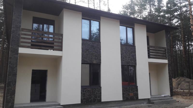 Продажа новый дом дуплекс в окружении сосен в Гостомеле. Агентство недвижимости