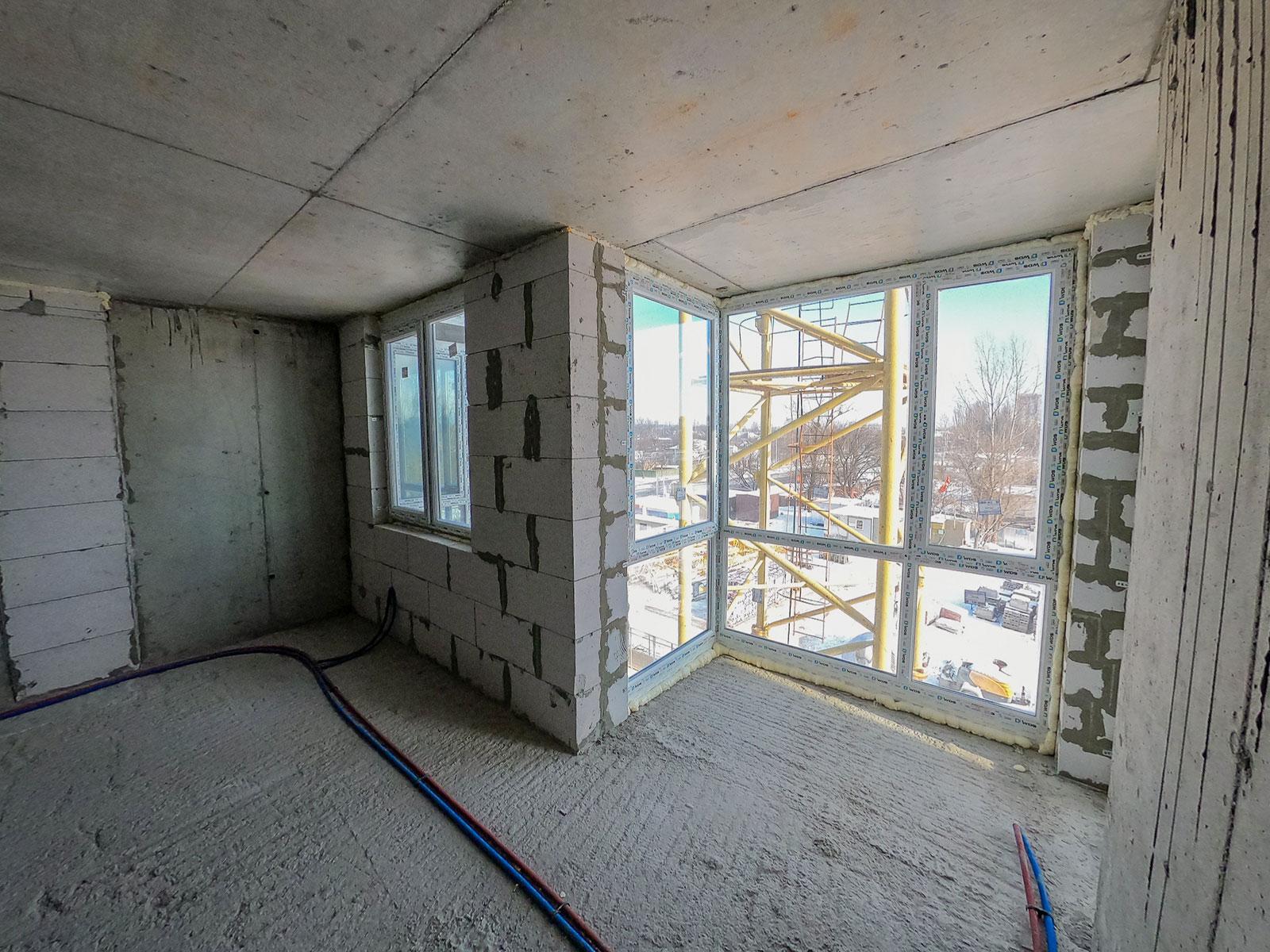 Продажа новая однокомнатная квартира планировка 1А от застройщика в ЖК 4U улица Наумова Киев. Агентство недвижимости