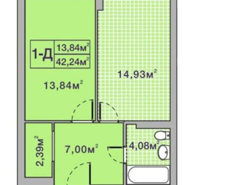 Продажа большая 1 однокомнатная квартира с ремонтом ЖК Центральный 2 улица Университетская Ирпень. Агентство недвижимости