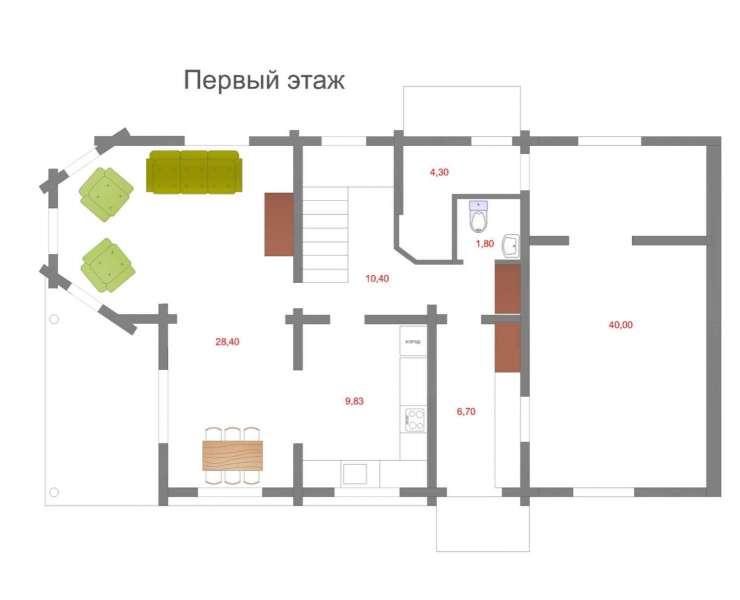 1 этаж. Купить готовый дом сруб под Киевом. Продается сруб с мебелью в коттеджном городке в Михайловке-Рубежовке