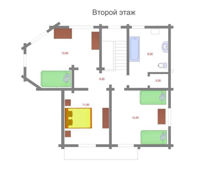 2 этаж. Купить готовый дом сруб под Киевом. Продается сруб с мебелью в коттеджном городке в Михайловке-Рубежовке