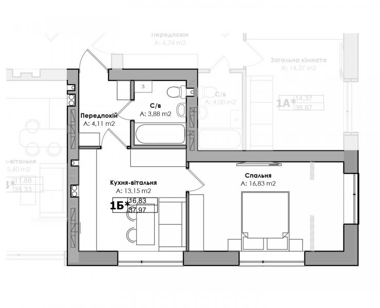 Продажа однокомнатная квартира в Ирпень на Украинской STORY HOUSE